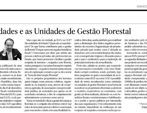 AS ENTIDADES E AS UNIDADES DE GESTÃO FLORESTAL